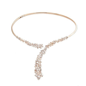 18k Rose Gold Diamond Necklace
