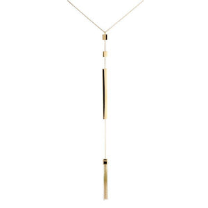 18k Yellow Gold Tassel Necklace