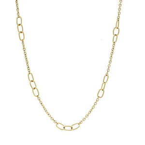 Estate 18k Yellow Gold Cartier Link Necklace- 36""