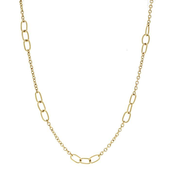 Estate 18k Yellow Gold Cartier Link Necklace- 36