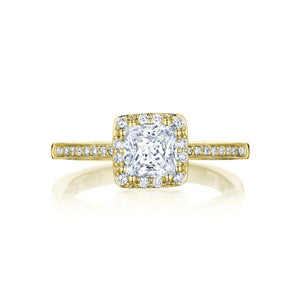 Tacori 14k Gold Pave Halo Diamond Engagement Ring