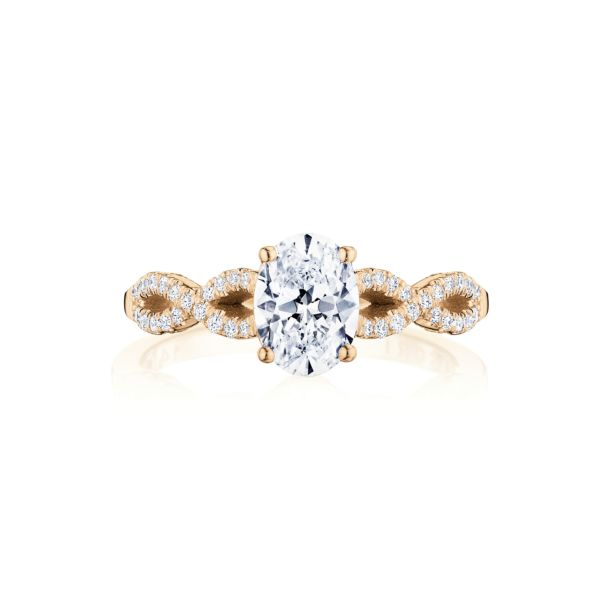 Tacori Coastal Crescent Twist Diamond Engagement Ring