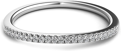 Pave Diamond Fitted Wedding Band
