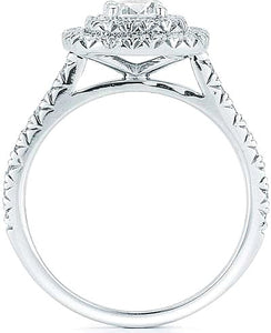 Pave Double Halo Diamond Engagement Ring
