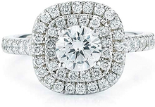 Load image into Gallery viewer, Pave Double Halo Diamond Engagement Ring