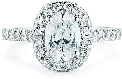 Pave Halo Diamond Engagement Ring