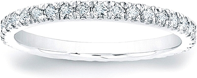 Pave-Set Round Brilliant Diamond Eternity Band