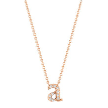 Load image into Gallery viewer, 14k Rose Gold Mini Diamond Initial Pendant