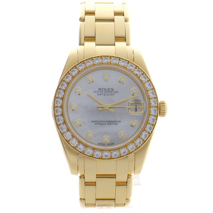 Pre-Owned 18k Yellow Gold Rolex Pearlmaster 34mm