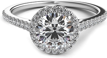 Load image into Gallery viewer, Petite Diamond Halo Engagement Ring