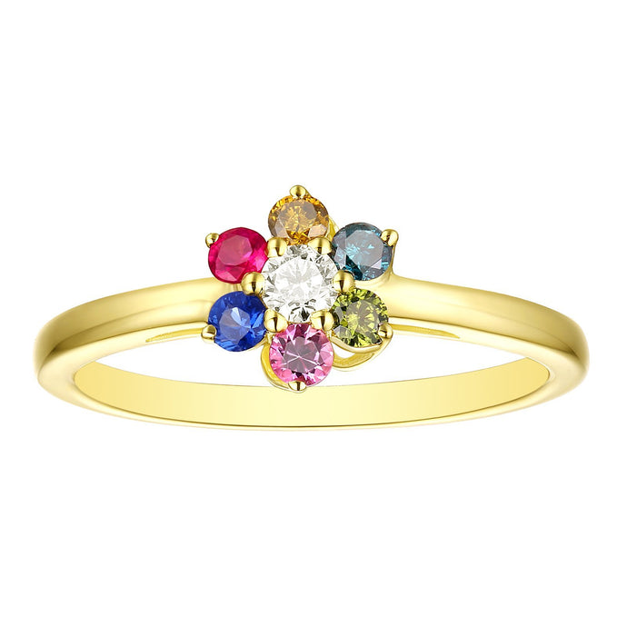 14k Yellow Gold Multi Stone Ring