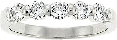 Platinum .70ct Five-Stone Diamond Band