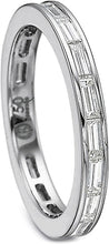 Load image into Gallery viewer, Precision Set Baguette Diamond Wedding Band
