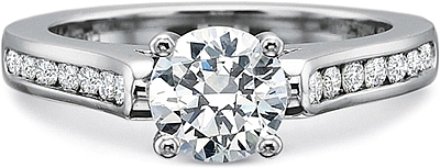 Precision Set Channel Set Diamond Engagement ring