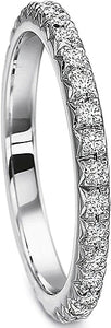 Precision Set French Pave Diamond Wedding Band