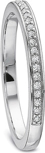 Precision Set Pave Diamond Wedding Band