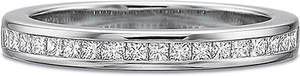 Precision Set Princess Cut Diamond Wedding Band