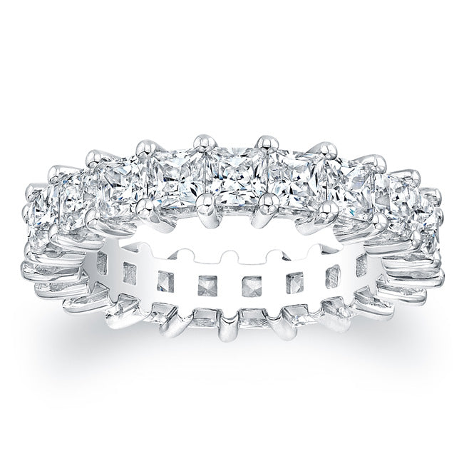 Princess Cut Diamond Eternity Ring - 4.00CTW G/SI1