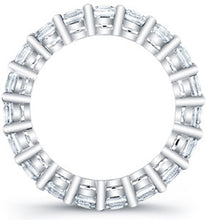Load image into Gallery viewer, Princess Cut Diamond Eternity Ring - 3.15CTW G/SI1