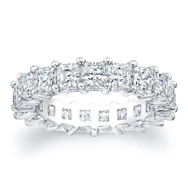 Princess Cut Diamond Eternity Ring - 4.50CTW G/SI1