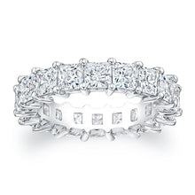 Load image into Gallery viewer, Princess Cut Diamond Eternity Ring - 5.94CTW G/SI1