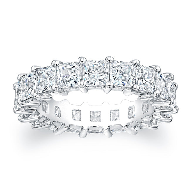 Princess Cut Diamond Eternity Ring - 5.94CTW G/SI1