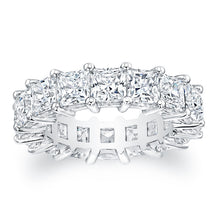 Load image into Gallery viewer, Princess Cut Diamond Eternity Ring 7.50CTW G/SI1