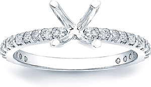 Prong-Set Diamond Engagement Ring- .40ct tw