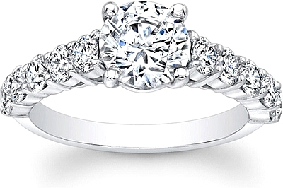 Prong Set Flush Fit Diamond Engagement Ring