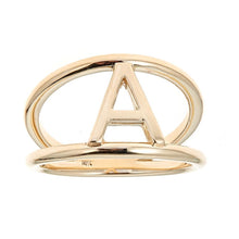 Load image into Gallery viewer, 14k Yellow Gold Initial Ring