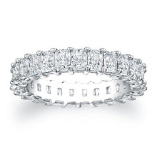 Load image into Gallery viewer, Radiant Cut Diamond Eternity Ring - 3.75CTW F/VS2