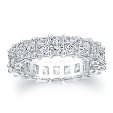 Load image into Gallery viewer, Radiant Cut Diamond Eternity Ring - 6.27CTW F/VS2