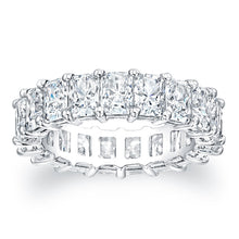 Load image into Gallery viewer, Radiant Cut Diamond Eternity Ring - 7.20CTW F/VS2