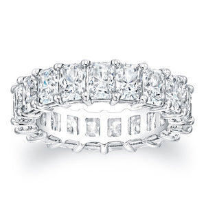 Radiant Cut Diamond Eternity Ring - 7.20CTW F/VS2