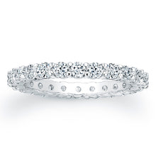 Load image into Gallery viewer, Round Brilliant Cut Diamond Eternity Ring - 1.30CTW G/SI1