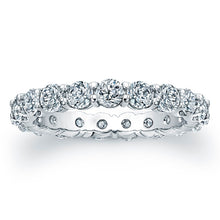 Load image into Gallery viewer, Round Brilliant Cut Diamond Eternity Ring -3.40CTW G/SI1