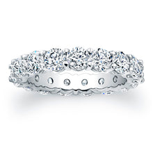 Load image into Gallery viewer, Round Brilliant Cut Diamond Eternity Ring - 4.00CTW G/SI1
