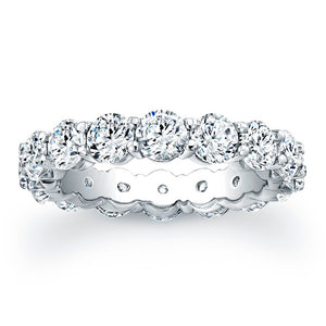 Round Brilliant Cut Diamond Eternity Ring - 4.95CTW G/SI1