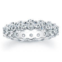 Load image into Gallery viewer, Round Brilliant Cut Diamond Eternity Ring - 5.60CTW G/SI1