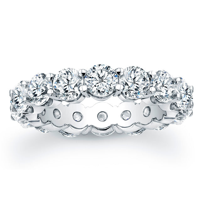 Round Brilliant Cut Diamond Eternity Ring - 5.60CTW G/SI1