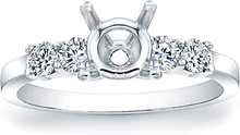 Load image into Gallery viewer, Round Brilliant Common Prong Diamond Engagement Ring- .45ctw tw.
