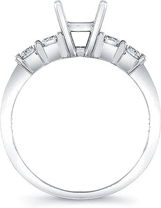 Round Brilliant Common Prong Diamond Engagement Ring- .45ctw tw.