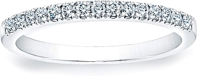 Round Brilliant Pave Diamond Band