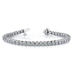 18k White Gold Diamond Tennis Bracelet - 9.5ctw