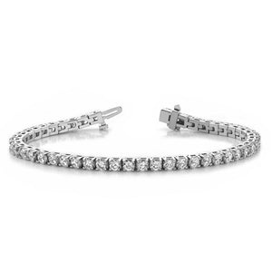 18k White Gold Diamond Tennis Bracelet - 7.05ctw