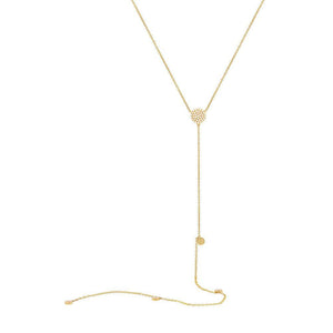 14k Yellow Gold Diamond Lariat