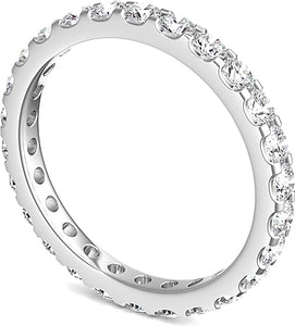 Scalloped Prong Round Diamond Eternity Ring 1.00ct tw