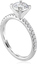 Signature Pave Set Diamond Engagement Ring