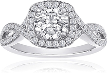Load image into Gallery viewer, Signature Pave Twist Diamond Engagement Ring