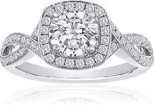 Signature Pave Twist Diamond Engagement Ring